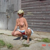 57 Year Old Canadian Wife Outdoors