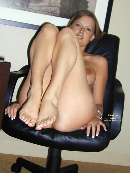 Nice Feet , Nice Feet, Knees Up, Nude On Office Chair
