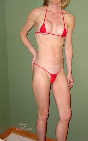 Pic #1 Red String Bikini