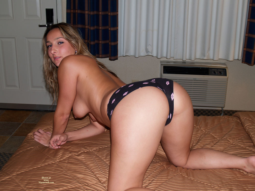 Blonde Rear View On Knees On Bed Topless - Blonde Hair, Doggy Style, Hanging Tits, Long Hair, Topless , Big White Ass, Kneeling On Mattress, Blonde In Doggystyle, Looking Behind, In A Monokini, Long Wavy Blonde Hair, Sexy Doggy Style, Wfi With Panties