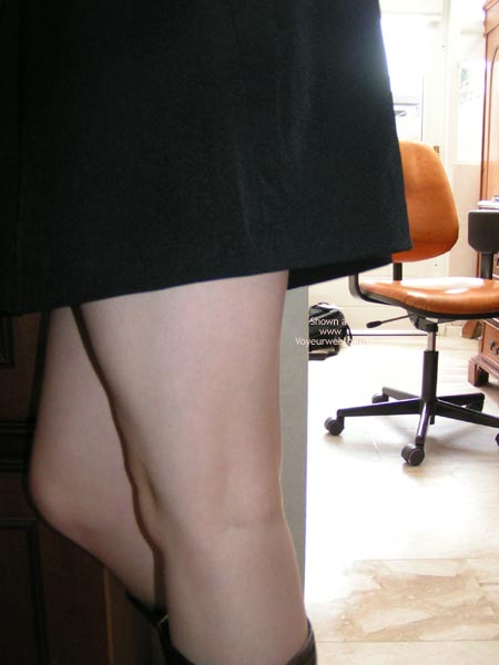 Pic #1 Cute Dutch Girl In And Out Of Short Skirt!