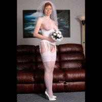 Liz In Her Blushing Bridal Corset