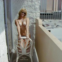 Toppless Blonde On The Balcony - Topless , Toppless Blonde On The Balcony, Topless Blonde In Dark Glasses, Topless