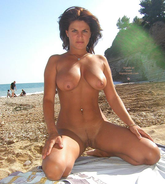Golden Brown - Brunette Hair, Exhibitionist, Nude Beach , Golden Brown, Nude Beach Posing, Big Tit Brunette, Full Frontal Nude On Beach, Tanned Beach Brunette, Heavy Round Nipples, Exhibitionist, Firm Roll-over Boobs At The Beach