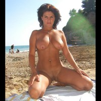 Vanessa Naked At The Beach