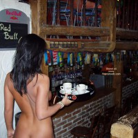 Carrying Tray - Nude In Public , Carrying Tray, Naked Waitress, Nude Indoor, Nude In Public, Nude In Bar