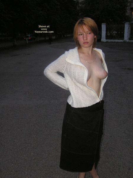 Puffy Nipples - Puffy Nipples , Puffy Nipples, Open Top, Black Skirt, White Sweater