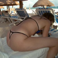 Love Her Thong In Playa Del Carmen