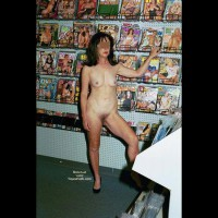 Nude in adult book store