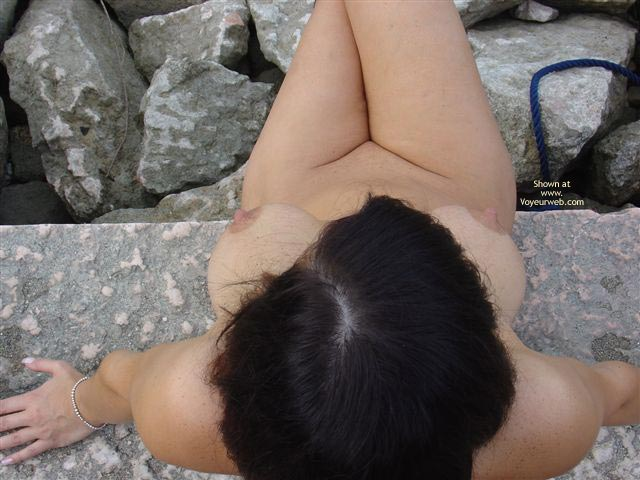 Outside - Big Tits, Large Breasts, Nude Outdoors , Outside, Big Breasts, Sitting On Stone, Full Body Nude, Topview Nudist, Large Breasts, Eip Shoreline