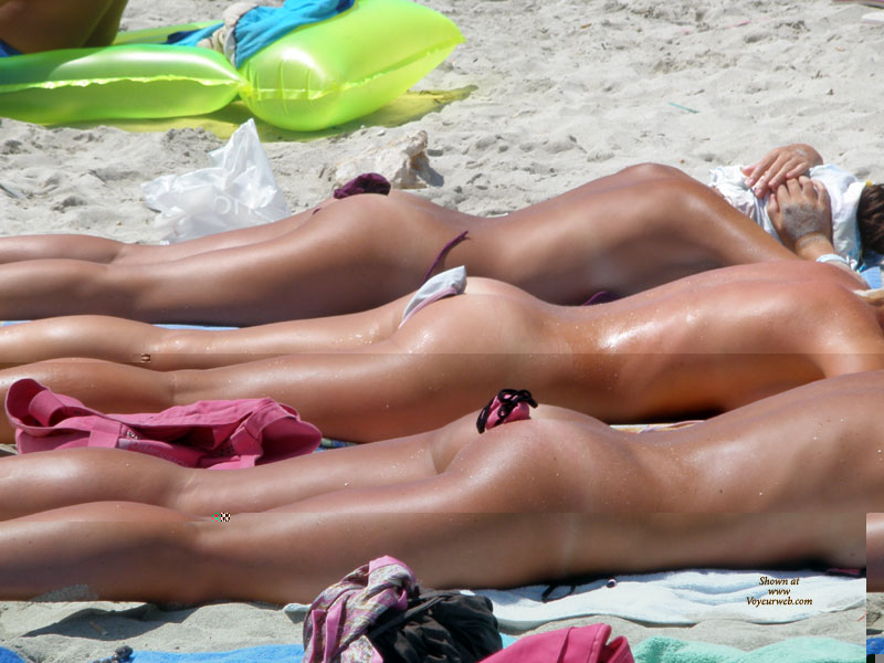 That Naked women sunbathing on beach