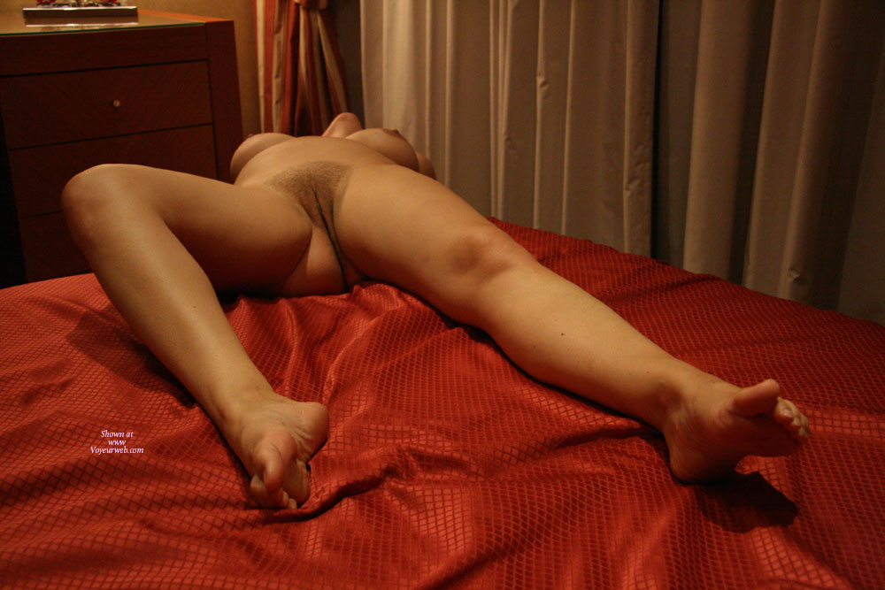Nude Laying On Bed View From Feet - July, 2009 - Voyeur -9766