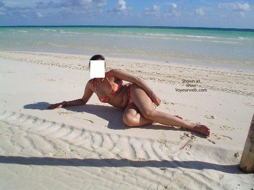 Pic #1 My Lovely Pakistani Wife At A Caribbean Beach