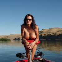 Brunette With Long Hair Naked On The Lake - Brown Hair, Brunette Hair, Large Breasts, Long Hair, Pierced Nipples, Sunglasses , Long Brown Hair Naked, Large Breasts With Pierced Nipples, Pierced Nipple, Brunette With Huge Breasts, Sexy Smile In Sunglasses, Very Large Tits, Naked Leaning Over Seat On Boat, Small Erect Nipples, Naked On A Bass Boat, Resting Boobs On Boat Seat