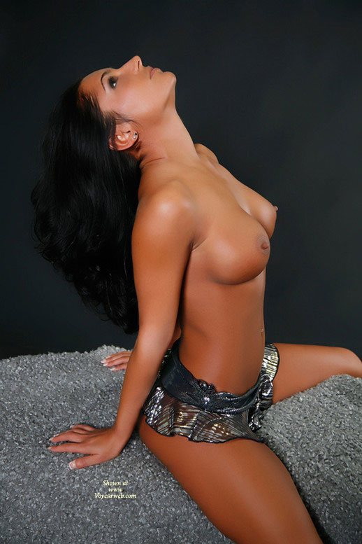Great Boobs - Big Tits, Black Hair, Long Hair, Navel Piercing , Perfect Breasts, Nice Big Tits, Dark Haired Beauty With A Great Tan, Lovely Face, Perfect Body, Nicely Tanned Skin, Round Tits