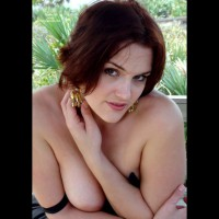 Boob Slip - Big Tits, Brown Eyes, Topless, Sexy Boobs, Sexy Face , Pretty Face, Top Slipping Off Her Shoulders, Concealing Her Breasts With Her Pose, Gold Earrings, Giving Camera A Sultry Look, Big Soft Tits, Topless But Crossed Arms Cover Her Boobs, Sexy Look, Brown Eyes