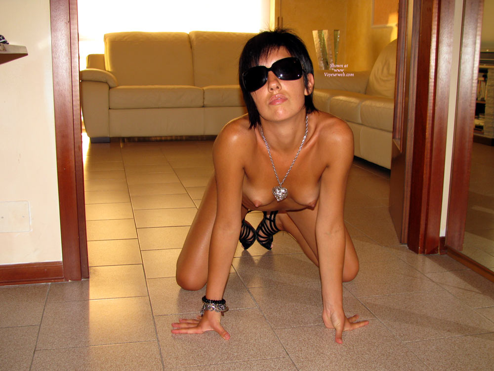 Beauty On All Fours In The Doorway - Black Hair, Doggy Style, Perky Tits, Small Tits, Sunglasses, Topless , Topless Front View, Doggie Style In Glasses, Doggy Style Frontal, Wfi Front View, Topless On The Floor, Small Perky Tits, Naked On Floor, Black Hair And Sunglasses, Topless On All Fours