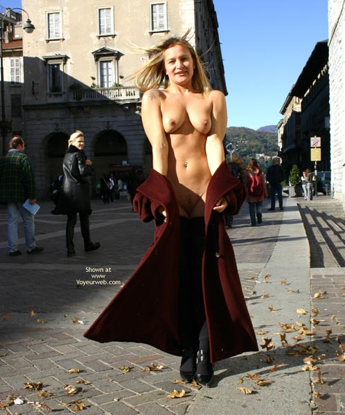 Black Stockings - Long Hair, Nude In Public, Stockings , Black Stockings, Fully Eip, Long Blonde Hair, Nude On Public Street
