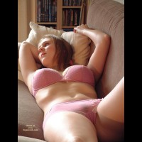 Relax In The Sofa - Bra, Sexy Panties , Relax In The Sofa, Pink In Sofa, Dreaming, Pink Bra, Pink Panties