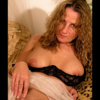 Touching Herself - Erect Nipples, Large Aerolas, Touching Herself , Touching Herself, Blond In A Shelf Bra, Fingers On Her Clit, Black Bra Pulled Down, Erect Nipples, Large Aerolas, Large Cup Size