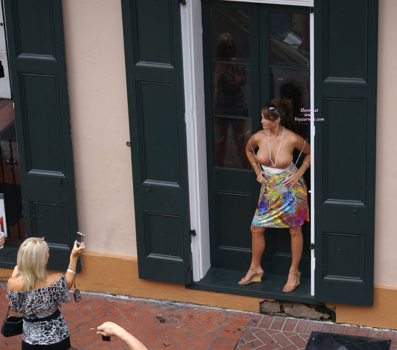 Mature Woman Flashing Her Titis - Brunette Hair, Firm Tits, Flashing Tits, Flashing, Large Breasts, Milf, Topless , Shown Tits For Shooting, Public Posing, Exposed, Brunette With Attitude, Posing Topless In Store Doorway, Topless Doorway Shot, Hands On Hips, Large Firm Breasts