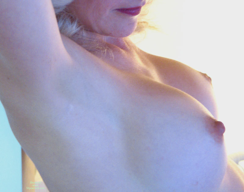 Closeup Tits - Blonde Hair, Erect Nipples , Large Round Breast