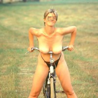 Renate On Her Bike