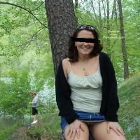 Josette Flashing At The Lake
