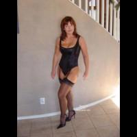Black Corsett And Stockings