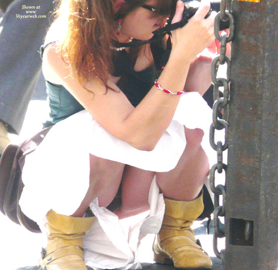 Panty Upskirt - Upskirt , Photogenic Photographer, In Public, Crouching Pussy, Hidden Tits, Crouching Thighs, Up Skirt View, Photograper's Upskirt, Squat Upskirt, Taking Photo, Crouching Upskirt, Squatting