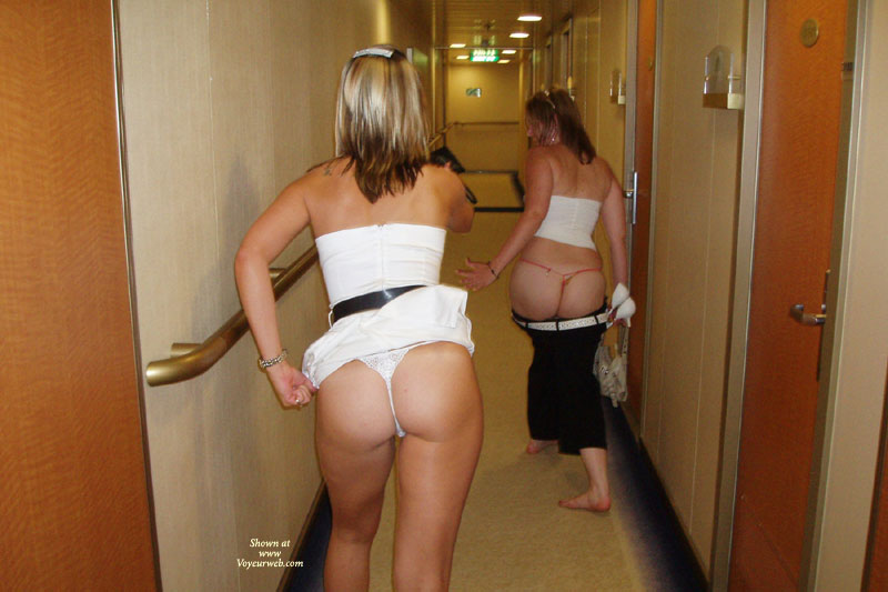 Butt Parade In Hotel Hall , Hotel Hallway, Two Girls Showing Their Bottums, Showing Ass, Naked Ass Hunting, Two Girls, Thong Tease, Ass In Thong, Hallway Bottoms, Moons In The Hallway, Hallway Strip, Two Bottoms On The Run, Girls Night Out, Drunk Girls On A Cruise Ship