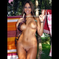 Sexy Nude Italian Girl - Brown Hair, Brunette Hair, Landing Strip, Large Breasts, Long Hair, Nude Outdoors, Hot Girl, Naked Girl, Nude Amateur, Sexy Face, Sexy Figure , Smiling At Camera, Frontal Nude Outdoor Brunette Hanging Laundry, Facing Camera, Hanging Bra On Washing Line, Airstrip Pubes, Narrow Waist