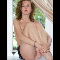 Naked Girl In White Window - Blue Eyes , Red Lips Blue Eyes, Exposed Pussy, Smooth Milky White Skin, Sitting In Window, Pussy Exposed, Red Lips, Arms Around Folded Legs, Sitting By Window Knees Up, Sitting In Window, Folded Knees, Sitting Knees Up And Pussy Exposed