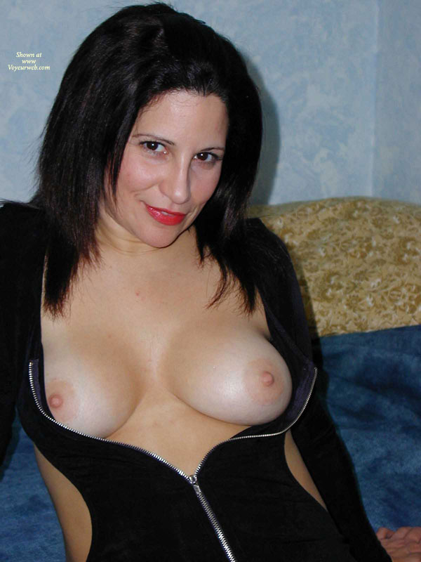 Black Dress With Side Cutouts And Front Zipper - Dark Hair, Erect Nipples, Large Breasts, Topless, Naked Girl, Nude Amateur , Top Down, Pink Nipples, Nice Naturals, Curvey Shaped Body, Medium Size Nipples, Boob Slip, Sexy Black Dress, Top Unzipped, Exposing Her Breasts, Big Boobs, Topless Nude, Sly Smile, Smiling Directly At The Camera, Red Lips