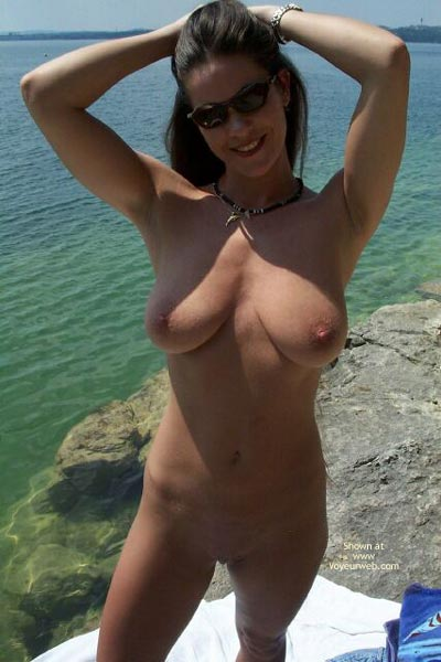Nude In Water - Full Frontal Nudity, Nipples, Shaved Pussy, Smiling, Sunglasses, Water , Nude In Water, Full Frontal, Sunglasses, Smiling, Shaved Pussy, Erect  Nipples