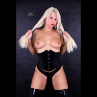 White Blonde With Pierced Tits - Big Tits, Blonde Hair, Long Hair, Pierced Nipples, Topless , Standing With Leather Outfit, Pierced Right Nipple, Topless White Blonde, Sexy Corset, Black Leather Corset, Panties & Boots, Breasts On Display, Blonde Pulling Her Hair, Blonde With Big Tits, Studio Shot, Striking Topless Blonde, Pull Nipples Next, Holding Hair With Hands, Pinned Nipple