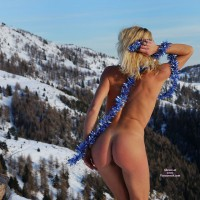 Standing In The Snow With Ass Exposed - Blonde Hair , Firm Shapely Buttocks, Nice Bum, A Cold Piece Of Ass, Perky Butt, Holiday Buns, Naked Backside In Snow, Perfect Ass Shot, Natural In Nature, Naked In Nature, Cold Cheeks