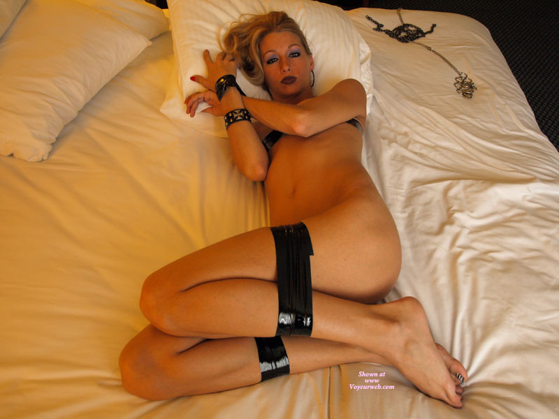 Wife Bondage On Bed With Duct Tape - Bondage, Naked Girl, Nude Amateur, Nude Wife, Sexy Wife , Hot Wife, Girl Laying On Bed Tied Up, Petite Bound With Black Tape, Black And White Striped Toes, Beautifully Submissive Blond, Black Taped Girl, Bare Feet, Legs Bound With Duct Tape, Taped Up, Laying On A Bed Taped Up, Legs Taped, Wrists Taped On White Bed Linens, Nude On Bed