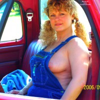 MILF In A Pickup Truck - Blonde Hair, Erect Nipples, Milf , Country Tits, Long Erected Nipples, Blonde Curly Hair, Side Boob, Vehicle Pose, Sitting In Truck, Farmer Girl Nipple Peak, Country Girl, Peek-a-boo Nipple, Denium Overalls, Peeking Nipple, Pigtails In A Pickup, Blue Denim Overalls