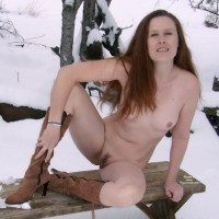 Winter Nude Wife In The Cold - Landing Strip, Long Hair, Small Tits, Spread Legs, Naked Girl, Nude Amateur, Nude Wife , Tiny Tits And Landing Strip, Legs Spread On Bench, Sitting On Bench, Boots, Long Aubern Hair, Small Titties, Boots And Snow, Nude Frontal In Snow