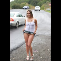 Girl Hitch Hiking No Panties - Bottomless, Flashing, Shaved Pussy, Bald Pussy, Pussy Flash , Roadside Flash, White Tank Top, Tight White Top See Through Nipples, White Shoes, Distracting Motorists With A Skirt Flip, Mini Skirt Flash, No Panties, See My Pussy, Skirt Lift, Small Shaved Pussy, Need A Lift