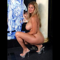 Large Breasts - Heels, Large Breasts , Large Breasts, Nude With Art, High Heels, Platform Shoes, Massive Mammary
