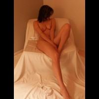 Nude Brunette Reclining , Nude Brunette Reclining, Reclining Nude Brunette In Chair