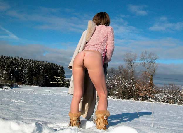 Bottomless Only - Nude Outdoors , Bottomless Only, Snowy Ground, Nude Outdoors