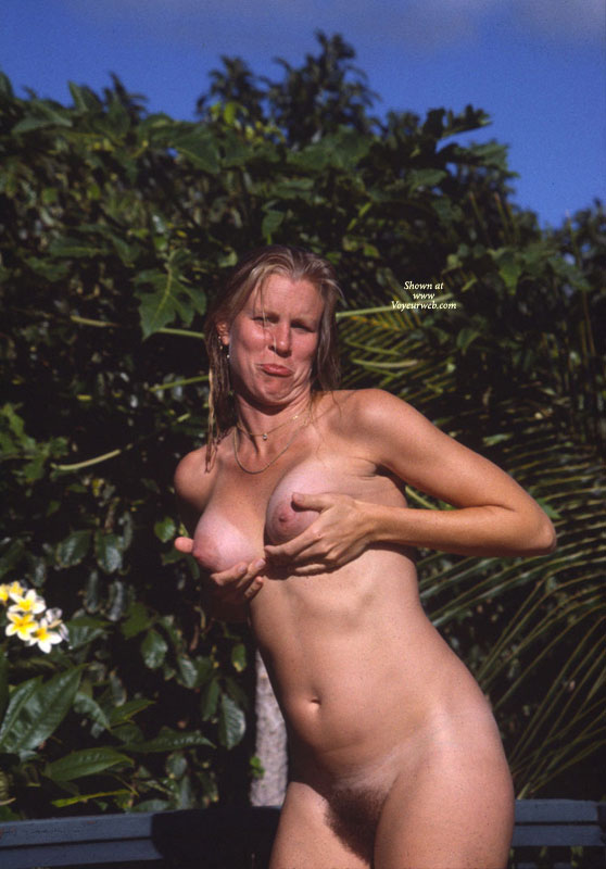 Nude Girl Cupping Breasts - Nude In Public, Tan Lines, Naked Girl, Nude Amateur , Bushy Vagina, Healthy Beaver, Natural Bush, Cupping Naked Breasts, Sour Face At The Beach, Mature Woman, Showing Off Her Tits