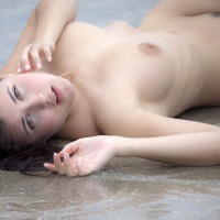 Hot Brunette On The Beach - Black Hair, Brunette Hair, Landing Strip, Pale Skin, Trimmed Pussy, Naked Girl, Nude Amateur, Sexy Face , Pale Skin, Naked On The Beach, Green Eyes, Girl Laying On The Ground, Nude On Beach, Lying Topshot