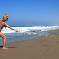 Beautiful Slim Blond Girlfriend Nude At The Beach - Blonde Hair, Small Breasts, Naked Girl, Nude Amateur, Sexy Girlfriend , Drawing On The Sand, Stretching On Beach, Blond With Nice Tan, Drawing Arches At The Sea Shore, Slim Blond Beach, Full-body Tan, Athletic, Naked On Beach, Nude On Beach
