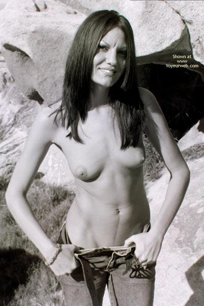 Public Flashing - Flashing, Long Hair, Small Breasts , Public Flashing, Long Black Hair, Very Slim, Small Breasts
