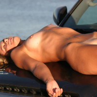 Hood Ornament - Laying Down, Nude Outdoors, Shaved Pussy, Tan Lines, Nude Amateur , Hood Ornament, Blonde On Hood, Naked On Car, Laying Down, Nice Tan, Shaved Pussy, Slim, Tanned Blonde Lying On Hood