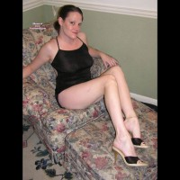 Me in Lingerie:Leggy Elena - Black Lingerie